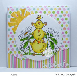 Whimsy Stamps Baby Chick Totem -leimasin