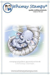 Whimsy Stamps Baby Ellie Cuddles -leimasin