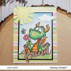 Whimsy Stamps Dorky Dragon -leimasin