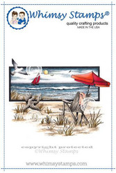 Whimsy Stamps Beach Serenity -leimasin
