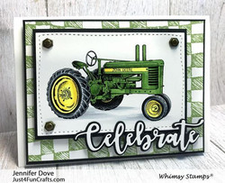Whimsy Stamps Farm Tractor -leimasin