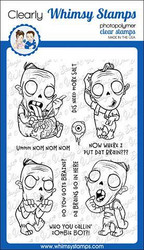 Whimsy Stamps Zombie Boy -leimasinsetti