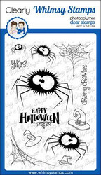 Whimsy Stamps Fuzzy Spiders -leimasinsetti