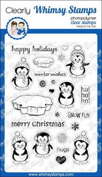 Whimsy Stamps Penguins Winter Adventure -leimasinsetti