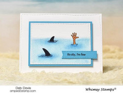Whimsy Stamps Snark Attack -leimasinsetti