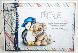 Whimsy Stamps Distant Friends -leimasinsetti