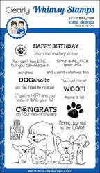 Whimsy Stamps Adopt Don't Shop DOGS -leimasinsetti