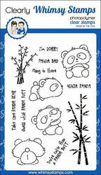 Whimsy Stamps Panda Butt -leimasinsetti