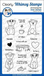 Whimsy Stamps Adorable Otters -leimasinsetti