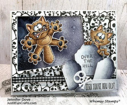 Whimsy Stamps Going Catty -leimasinsetti