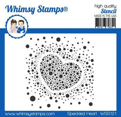 Whimsy Stamps Speckled Heart -sapluuna