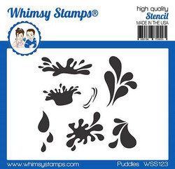 Whimsy Stamps Puddles -sapluuna