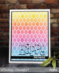 Whimsy Stamps Happy -stanssi