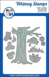 Whimsy Stamps No-See All Seasons Tree -stanssisetti