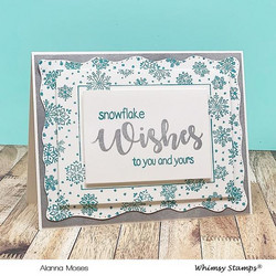 Whimsy Stamps Wavy Pierced Rectangles -stanssisetti
