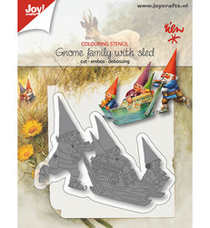 Joy! Crafts stanssi Gnome Family With Sled