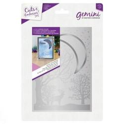 Gemini Cut & Emboss leikkaava kohokuviointikansio Winter Wonderland