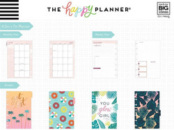 Mambi Happy Planner 12 kk päivätty Mini Planner -kalenteri, Vacation Vibes