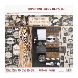 Craft Smart paperipakkaus Cedar Lodge, 12