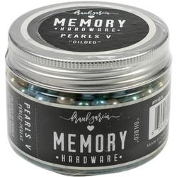 Prima Marketing Memory Hardware Glass Pearls -helmet, Gilded