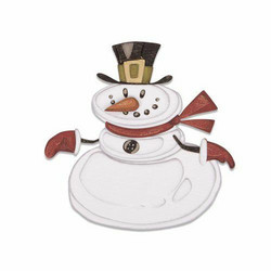 Sizzix Tim Holtz Thinlits stanssisetti Mr Snowman, Colorize