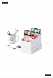 Mambi Sticker Storage Box -säilytyslaatikko tarrakirjoille, Neutral Geo