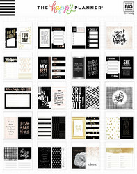 Mambi Happy Planner Tiny -tarrapakkaus Black & White