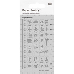 Paper Poetry Bullet Diary sapluuna Travel