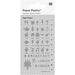 Paper Poetry Bullet Diary sapluuna Food