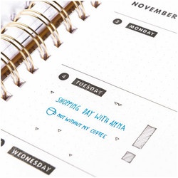 Paper Poetry Bullet Diary leimasinsetti Calendar