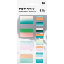 Paper Poetry Bullet Diary tarrat Index, green