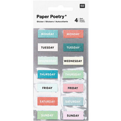 Paper Poetry Bullet Diary tarrat Weekdays, green