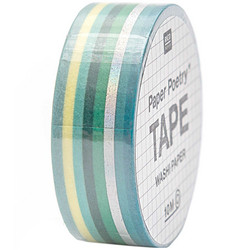 Paper Poetry Bullet Diary teippi Stripes, green