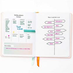 Paper Poetry Bullet Diary kalenteri, hardcover, Go For It
