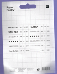 Paper Poetry leimasin Notes