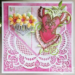 Heartfelt Creations Floral Corset -leimasin