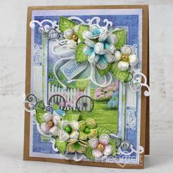 Heartfelt Creations Cottage Garden Hydrangea -stanssisetti