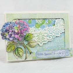 Heartfelt Creations Fresh Cut Hydrangea -stanssisetti