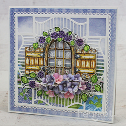 Heartfelt Creations Cottage Window & Hydrangea -leimasinsetti