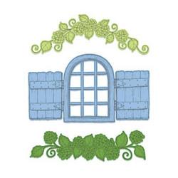 Heartfelt Creations Cottage Window & Hydrangea -stanssisetti