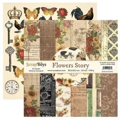 ScrapBoys paperikko Flowers Story12