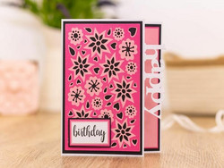 Gemini Double-Sided Create-A-Card stanssi Retro Floral