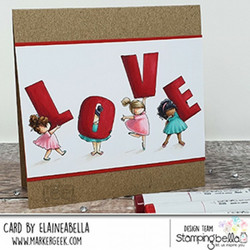 Stamping Bella leimasin Teeny Tiny Townie Love