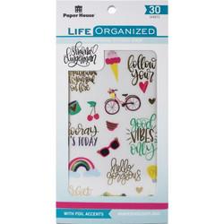 Paper House Life Organized tarrapakkaus Inspirational, 30 arkkia