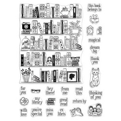 Hero Arts leimasinsetti Bookcase Peek-A-Boo