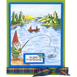 Stampendous leimasinsetti Gnome Fishing