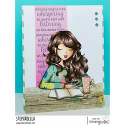 Stamping Bella Mochi Girl leimasin Journaling Mochi Girl