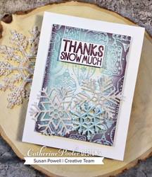 Catherine Pooler stanssisetti Snowflake Trio