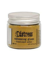 Tim Holtz Distress Embossing Glaze -jauhe, sävy Fossilized Amber
