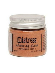 Tim Holtz Distress Embossing Glaze -jauhe, sävy Tattered Rose